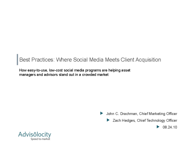 Best Practices: Where Social Media Meets Client Acquisition