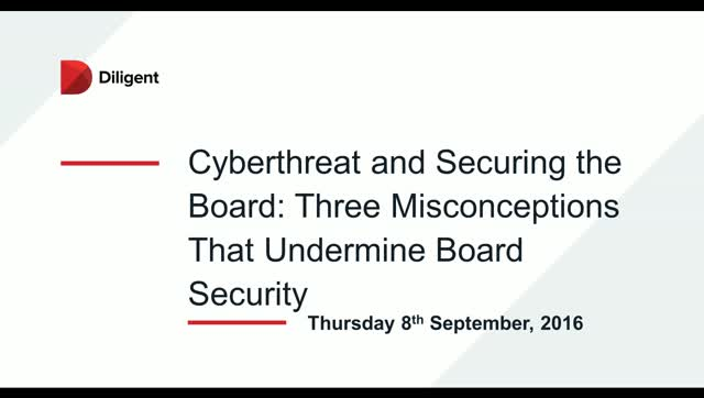 Cyberthreat and Securing the Board