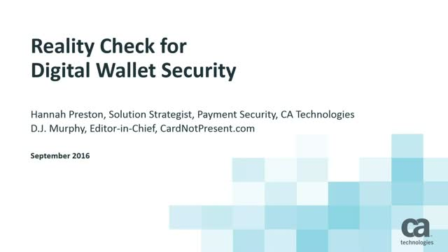 Reality Check for Digital Wallet Security