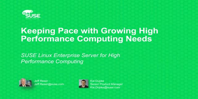 Keeping Pace with Growing High Performance Computing Needs