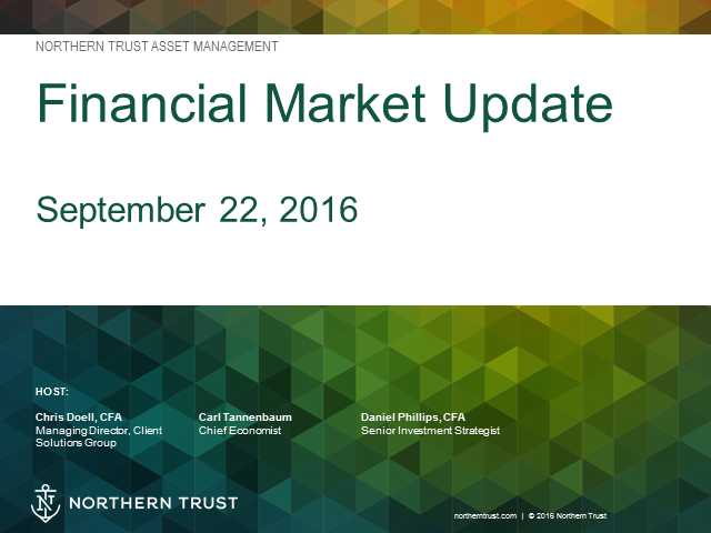 Financial Market Update - September 22, 2016