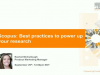 Scopus: Best practices to power up your research