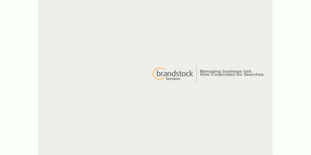 WIPR and Brandstock present: Managing Business Risk: How Corporates do Searches