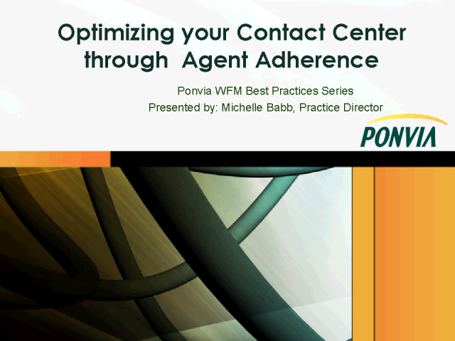 Optimizing Your Call Center Through Agent Adherence