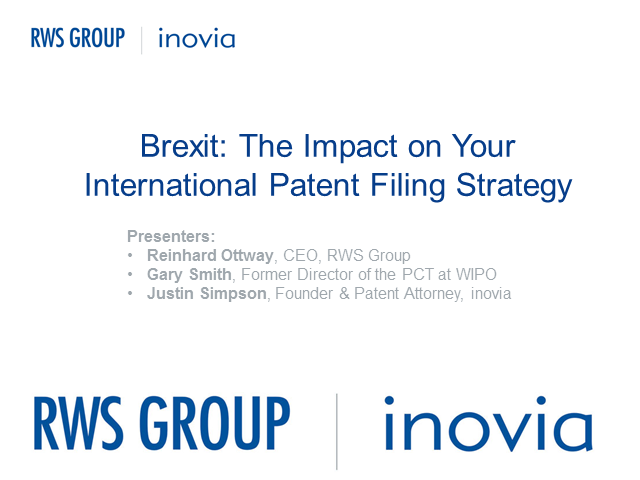 Brexit: The Impact on Your International Patent Filing Strategy