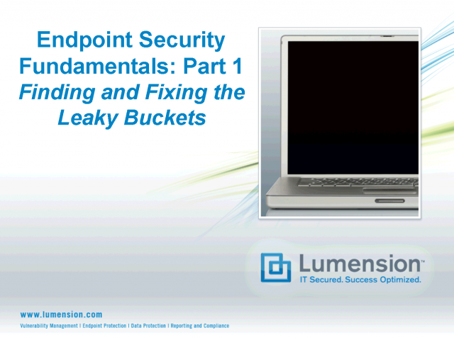 Endpoint Security Fundamentals: Part 1