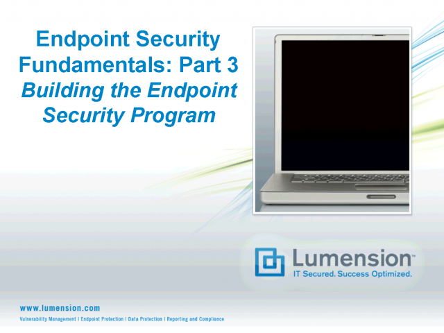 Endpoint Security Fundamentals: Part 3