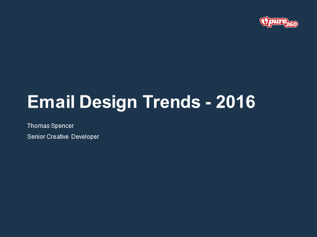 Email Design Trends 2016