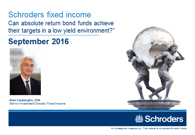 Can absolute return bond funds achieve their targets in a low yield environment?