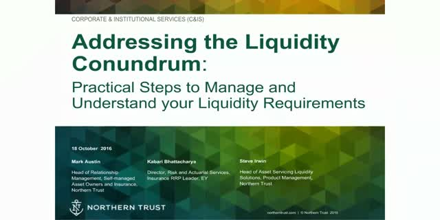 Addressing the liquidity management conundrum