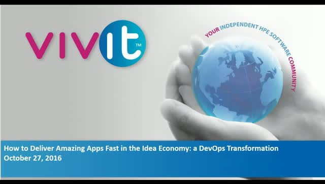 How to Deliver Amazing Apps Fast in the Idea Economy: a DevOps Transformation