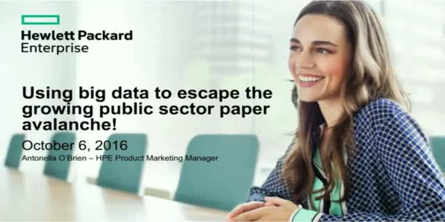 Using big data to escape the growing public sector paper avalanche!