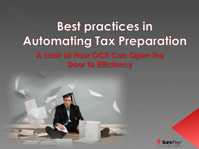 Using OCR To Reduce Tax Preparation Costs By Up To 30%