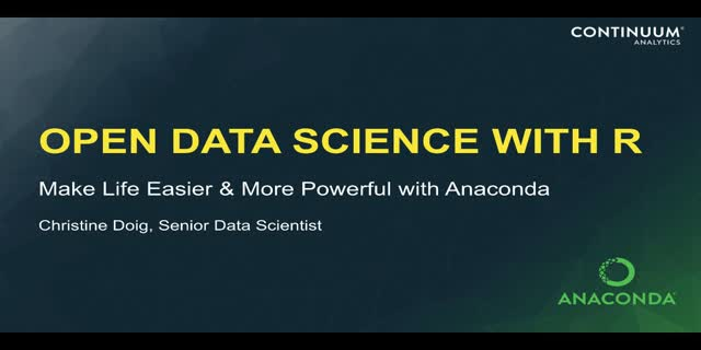 Open Data Science with R and Anaconda  Edit
