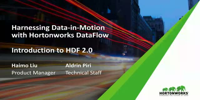Introduction to Hortonworks DataFlow