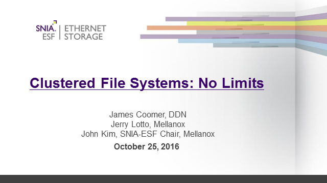 Clustered File Systems: No Limits
