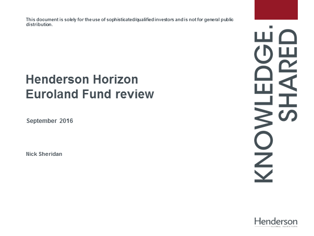 Live Insight: Henderson Horizon Euroland Fund Update