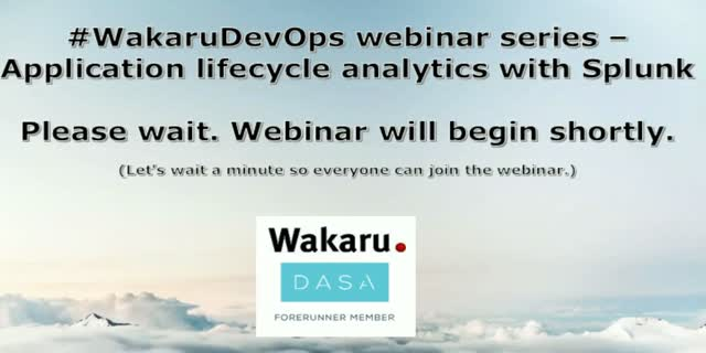 #WakaruDevOps webinar series - Application lifecycle analytics with Splunk