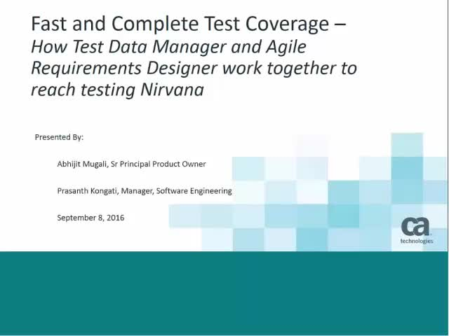 Fast and Complete Test Coverage for Test Nirvana