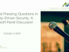 Your Most Pressing Questions in Identity-Driven Security: Microsoft Panel