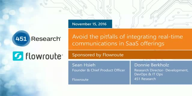 Avoid the pitfalls of integrating real-time communications in SaaS offerings