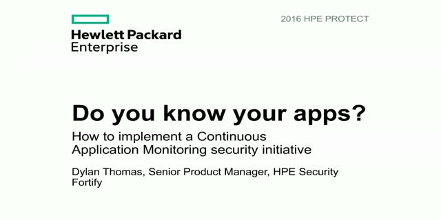 Get to know your apps by implementing Continuous Application Monitoring