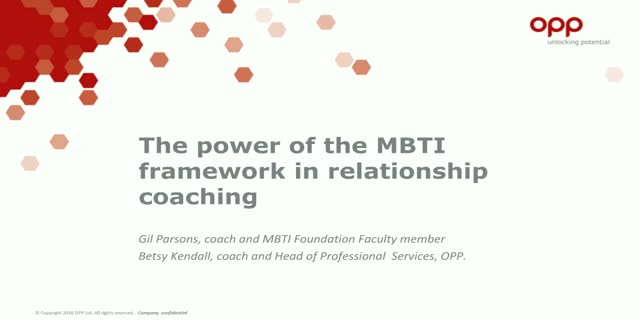 The power of the MBTI framework in relationship coaching