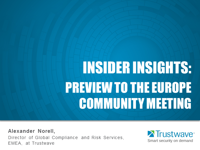 Insider Insights: PCI Europe Community Meeting Preview