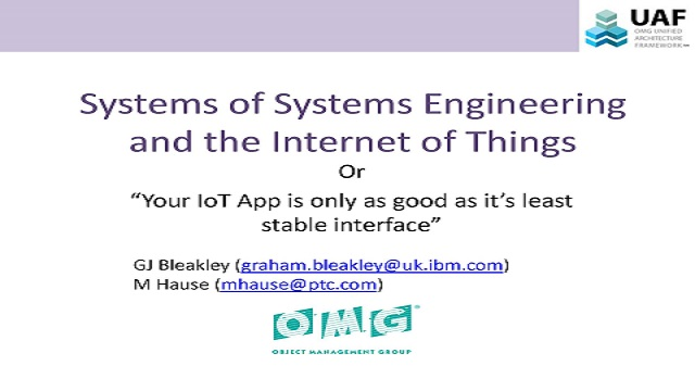 Systems Engineering and the Internet of Things