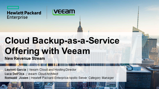 Cloud Backup-as-a-Service Offering with Veeam: New Revenue Stream