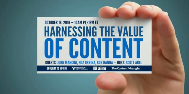 Harnessing the Value of Content