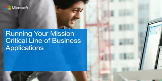 Running Your Mission Critical Line of Business Applications