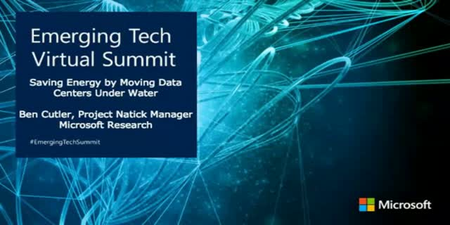 Saving Energy by Moving Data Centers Underwater [Emerging Tech Virtual Summit]