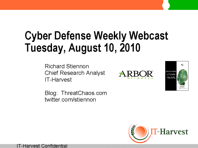 Cyber Defense Weekly:  Arbor Networks Acquired