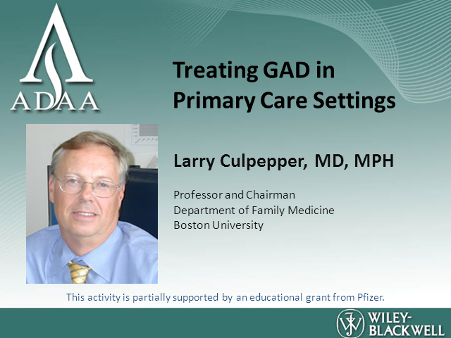 Treating GAD in Primary Care Settings