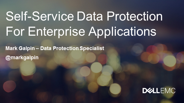 Self-service Data Protection For Enterprise Applications