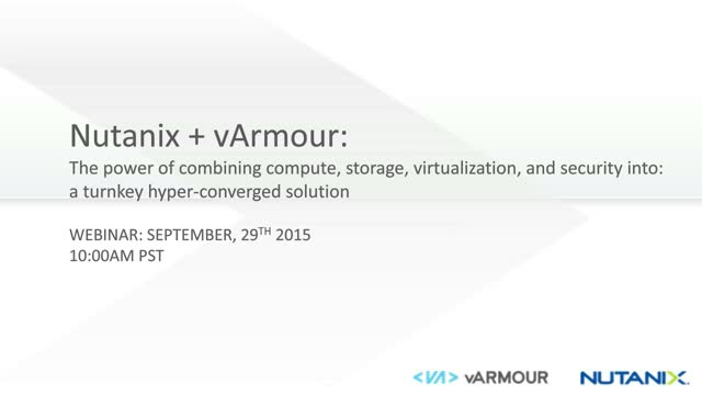 vArmour & Nutanix: Distributed Everything