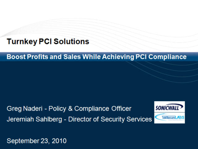 Turnkey Solutions to Boost Profits and Sales While Achieving PCI