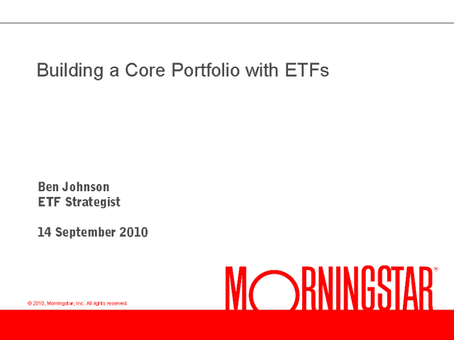 How to use ETFs as Building Blocks for a Core Portfolio