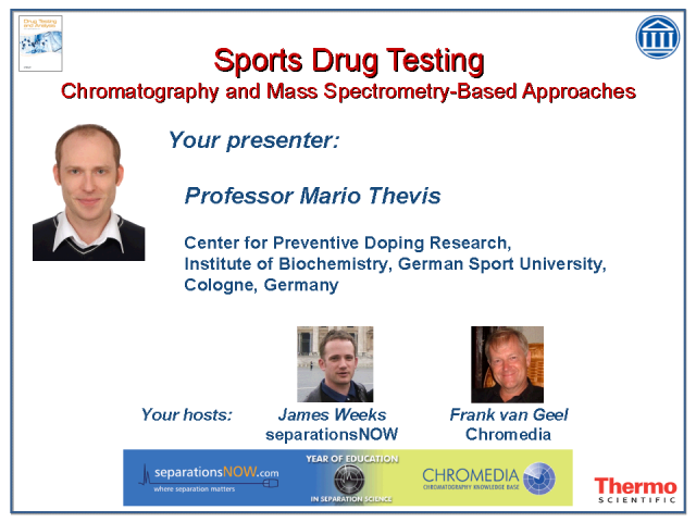 Sports Drug Testing: Chromatography & Mass Spec-Based Approaches