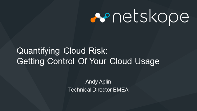 Quantifying Cloud Risk for Your Corporate Leadership