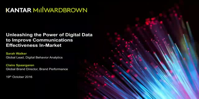 Unleashing the power of digital data to improve communications effectiveness 1