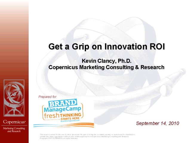 Get a Grip on the ROI of Your Innovation Efforts