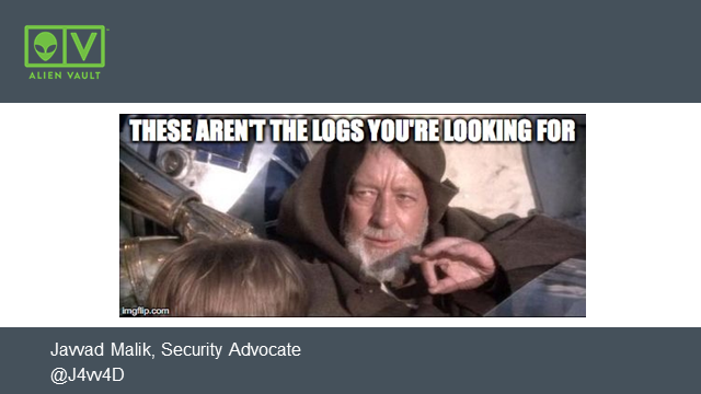These aren't the logs you're looking for