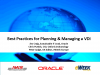 Best Practices for Planning & Managing VDI