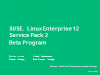 SUSE Linux Enterprise 12 SP2 Beta Program closing talk & what's next