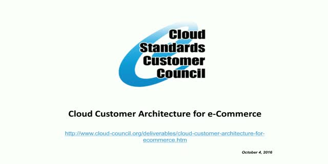 Cloud Customer Architecture for e-Commerce