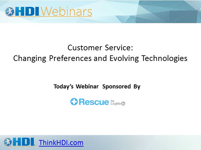 Customer Service: Changing Preferences and Evolving Technologies