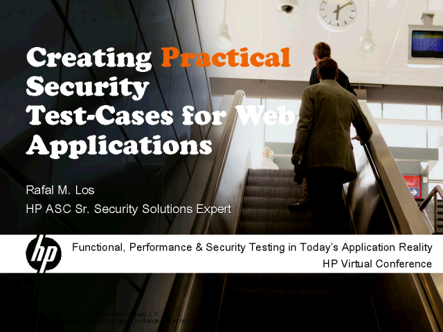 Creating Practical Security Test-Cases for Web Applications