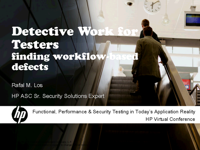Detective Work for Testers